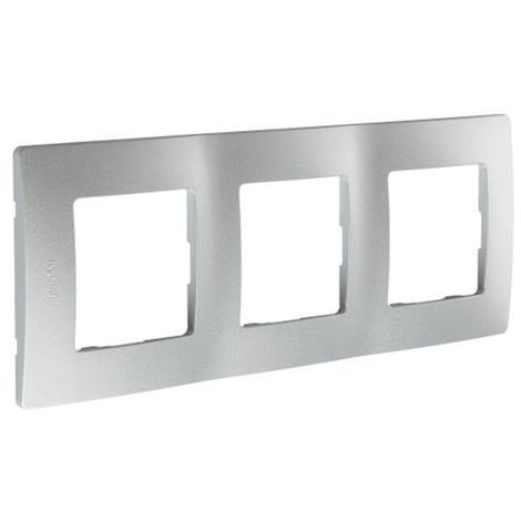 Marco 3 Elementos Aluminio Legrand Niloe 665063