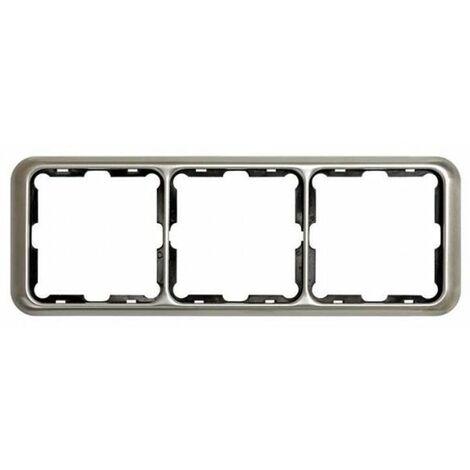 Marco 3 elementos aluminio Simon 75 75630-33