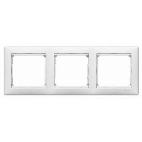 Marco 3 elementos horizontal Blanco Legrand Valena 774453