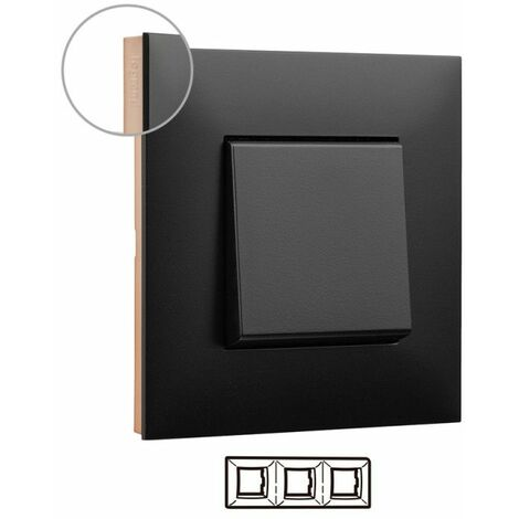 Marco 3 elementos Legrand 741073 serie Valena Next color Dark cobre