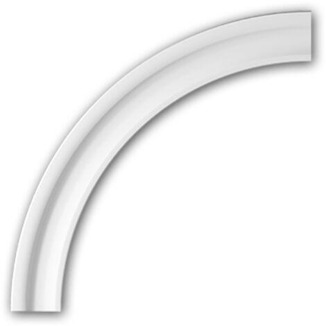 Marco arqueado flexible Profhome 487031F Elemento de fachada Marco para ventanas Elemento decorativo diseño moderno blanco