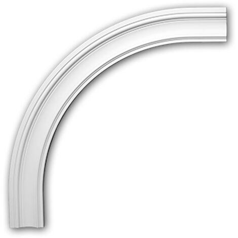 Marco arqueado flexible Profhome 487032F Elemento de fachada Marco para ventanas Elemento decorativo estilo Neoclasicismo blanco