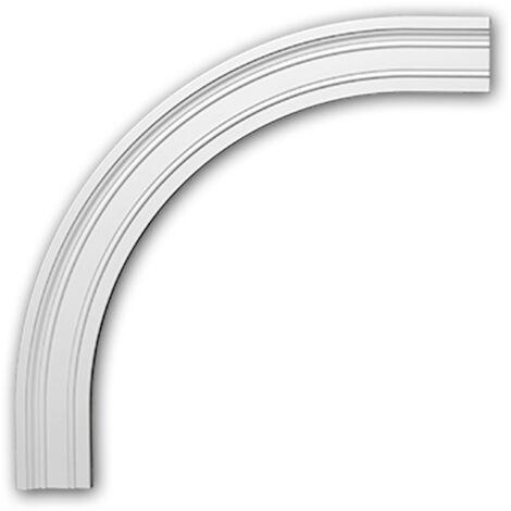 Marco arqueado flexible Profhome 487033F Elemento de fachada Marco para ventanas Elemento decorativo estilo Neoclasicismo blanco