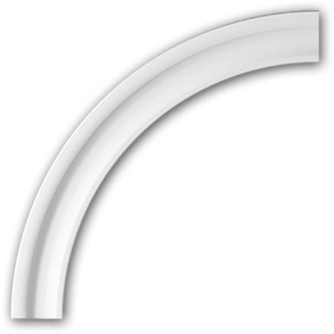 Marco arqueado Profhome 487031 Elemento de fachada Marco para ventanas Elemento decorativo diseño moderno blanco