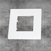 Marco básico 1 ventana 2 módulos blanco Zenit Niessen
