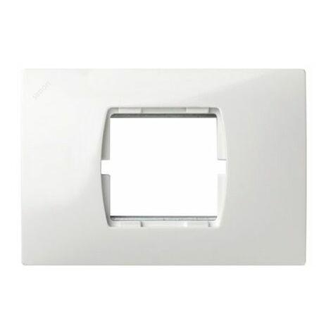 Marco caja americana 2 módulos estrechos blanco Simon 27 27612-65