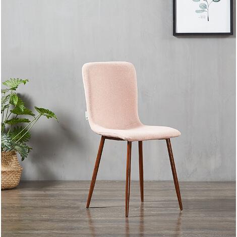 MARCO - Chaise Scandinave en Tissu Rose - Style Contemporain - Salle à Manger, Cuisine ou Bureau