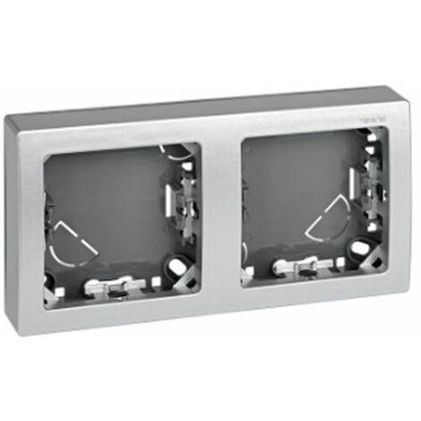 Marco con base 2 elementos aluminio Simon73 Loft 73620-63