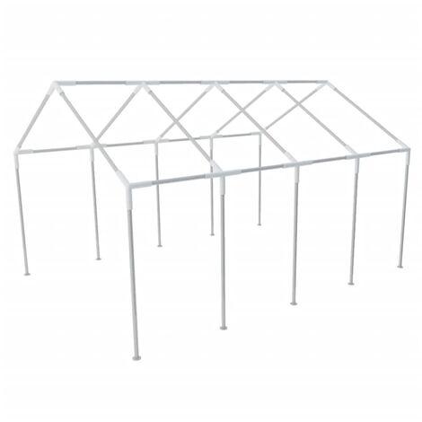 vidaXL Estructura de Carpa de Jardín de Acero Armazón Tienda de Fiesta 8x4 m - Argento
