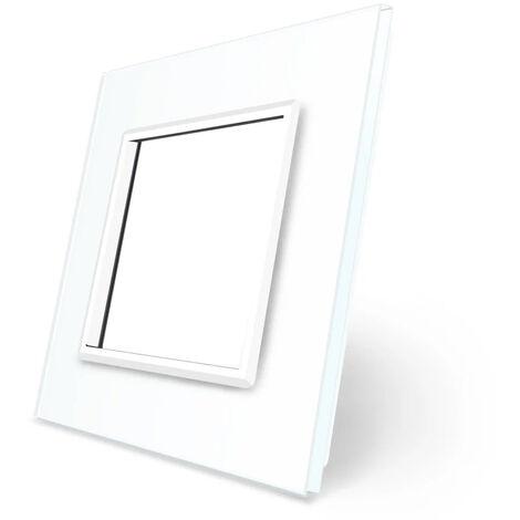 Marco de cristal para mecanismo blanco 1x hueco