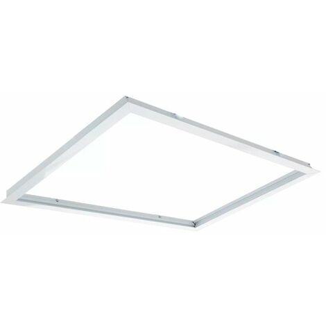 Marco de Empotrar para Panel 60X60 Blanco Blanco   IluminaShop