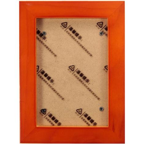 Marco de fotos de madera de 5 pulgadas Soporte de pared colgante Decoración de arte A Sasicare