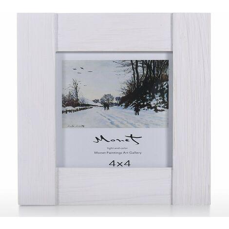 """main image of """"Marco de fotos de madera Pantalla de vidrio real Marco de imagen Pantalla de escritorio de sobremesa 5x7"""""""