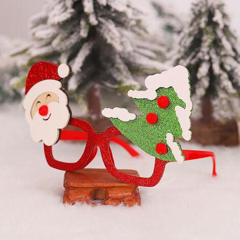 Marco de la decoracion Fiesta de Noel De Noel brillo Vidrios Vidrios del partido del traje favores para Vacaciones (Santa y arbol)