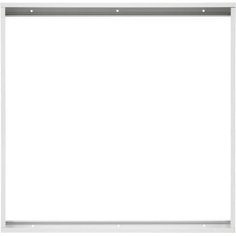 Marco de panel LED montado estructura de techo blanco plafón aluminio 60x60 cm