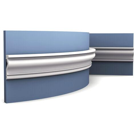 Marco de puerta Orac Decor DX174F LUXXUS Zócalo Moldura decorativa para paredes flexible 2 m