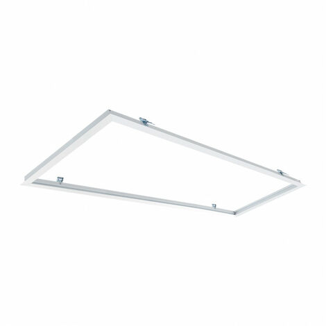 Marco Empotrable para Paneles LED 120x30cm BlancoBlanco