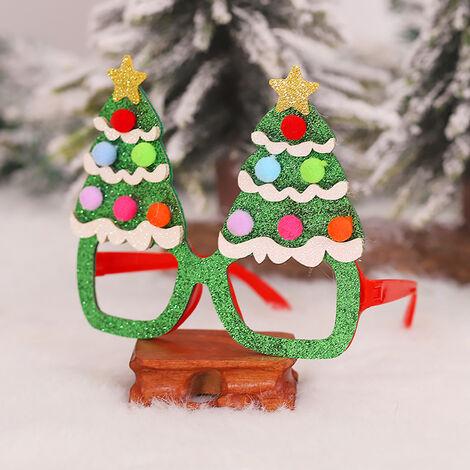 Marco Fete De Noel del brillo de los vidrios Decoracion fiesta de Navidad En Vidrios Vidrios Alquiler de disfraces para los favores (arbol)