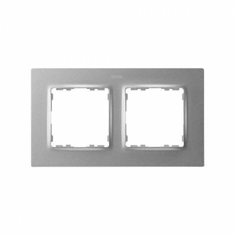 Marco para 2 elementos Simon 82 Concept 8200627-093 Aluminio