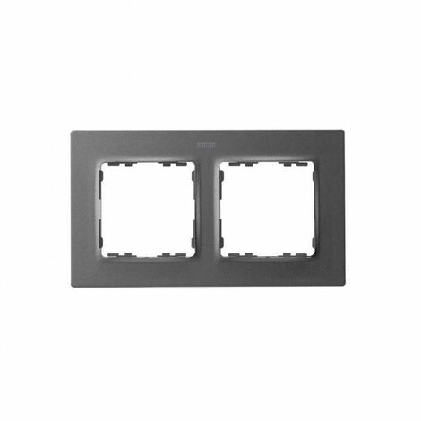 Marco para 2 elementos Simon 82 Concept 8200627-096 Titanio