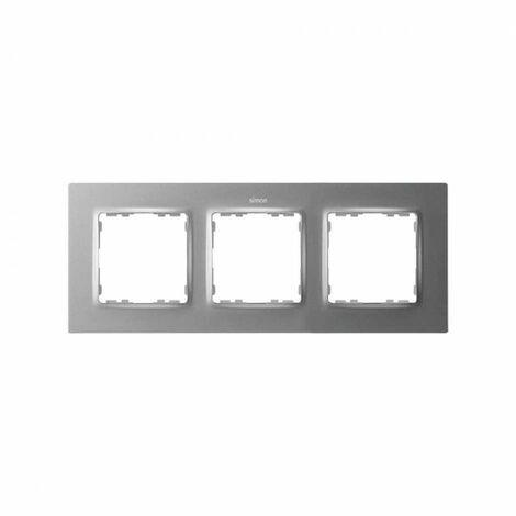 Marco para 3 elementos Simon 82 Concept 8200637-093 Aluminio