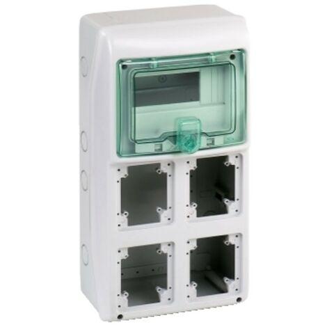 Marco Schneider industrial 8 módulos de 4 puntos de venta, de empotrar, IP65 10364