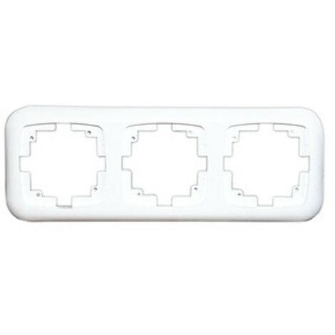 Marco triple para mecanismo empotrable Electro Dh 36.530/MT, color blanco, 8430552107186