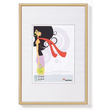 Marcos de cuadros plásticos nuevo estilo de vida de oro 18x24 cm