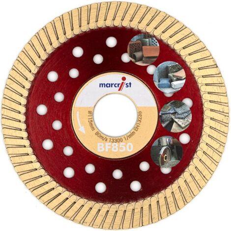 Marcrist Diamant-Trennscheibe 125x22.2mm BF850 für Baumaterialien und Naturstein