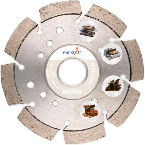 Marcrist Diamant-Trennscheibe 125x22.2mm mit 750 für Baumaterial, Beton, Granit, Stahl