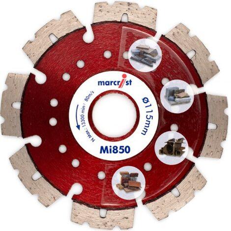 Marcrist Diamant-Trennscheibe 230x22.2mm mit 850 für Baumaterial, Beton, Granit, Stahl
