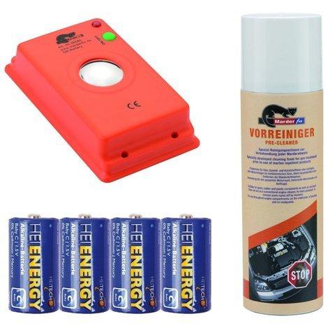 Marderfix - Akustik Batterie - inklusive Vorreiniger und Batterien