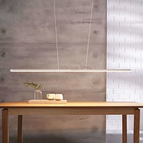 Marga - white LED pendant light, variable length