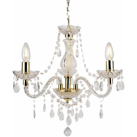 Marie Therese 3/5/9 Ceiling & Wall Light Chandeliers - Clear Black White & Gold
