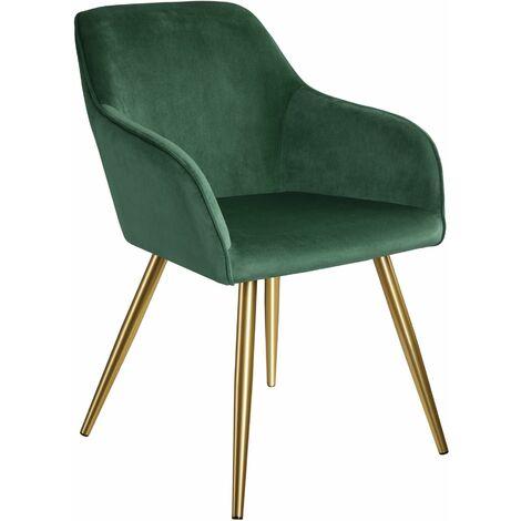 Marilyn Velvet-Look Chair gold