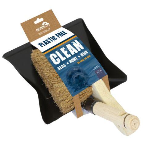 Marine Conservation Society Plastic Free Metal Hand Shovel & Wooden Hand Brush