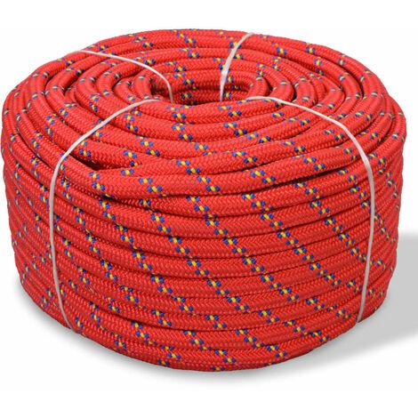 Marine Rope Polypropylene 10 mm 50 m Red