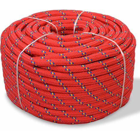 Marine Rope Polypropylene 14 mm 50 m Red