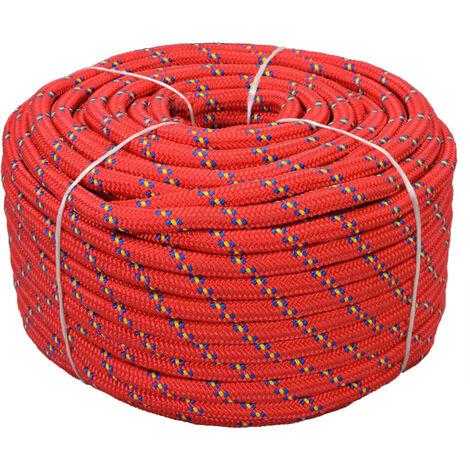Marine Rope Polypropylene 18 mm 50 m Red