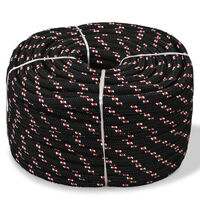 Marine Rope Polypropylene 6 mm 100 m Black