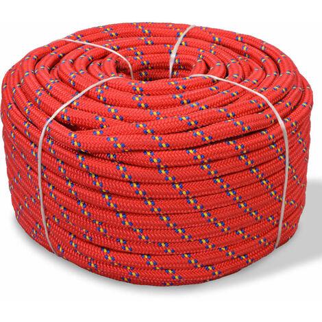 Marine Rope Polypropylene 6 mm 100 m Red