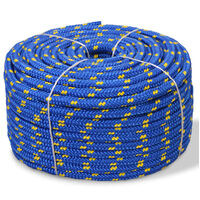 Marine Rope Polypropylene 8 mm 100 m Blue