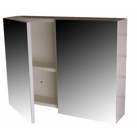 Marino Wall Mounted Mirrored Two Dooor Bathroom Cabinet, Soft Close Hinges