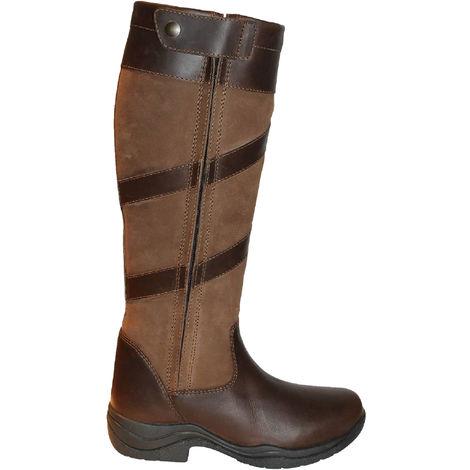 Mark Todd Adults Tall Waterproof Zip Boots (5 UK (Standard)) (Brown)