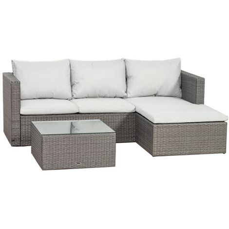 Marlow Corner Lounging Set - with Coffee Table and Cushions
