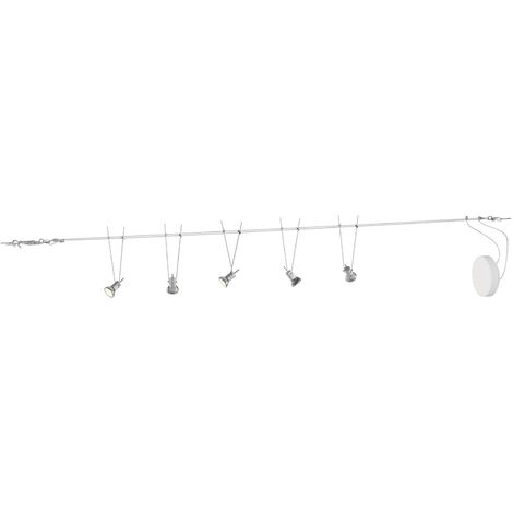 """main image of """"'Marno' (modern) in Silver made of Metal (5 light sources, GU5.3 / MR16) from Lindby"""""""