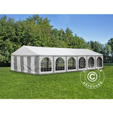 Marquee Party tent Pavilion, Exclusive CombiTents® 6x12 m 4-in-1, Grey/White