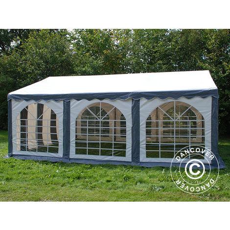 Marquee Party tent Pavilion Original 4x6 m PVC, Grey/White