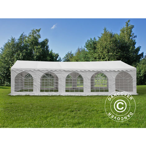 Marquee Party tent Pavilion Original 5x10 m PVC, White