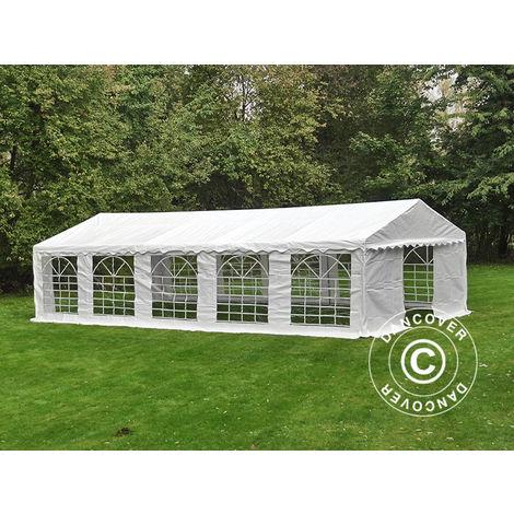 Marquee Party tent Pavilion PLUS 4x10 m PE, White